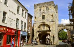Vägg för stad för munkBar porthus av York royaltyfria bilder