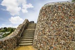 vägg för sten för bakgrundsfärggrunge fotografering för bildbyråer