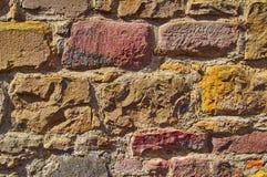 vägg för sten för bakgrundsfärggrunge Arkivbilder