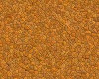 vägg för sten för orangmodell liten Royaltyfri Bild