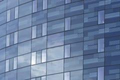 vägg för stigning för högt kontor för block glass Royaltyfria Bilder