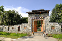 vägg för stil för bhutan dörringång Fotografering för Bildbyråer