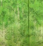 Vägg för tappning för perspektiv för grön färg för Colorfull vibrerande utomhus- gropig freh Royaltyfri Bild