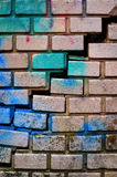 vägg för 2 tegelsten Royaltyfri Fotografi