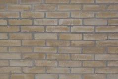 Vägg för tegelsten för bakgrundstexturockra royaltyfri bild