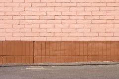 vägg för tegelstencloseupjordning Royaltyfri Bild