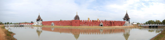 vägg för tegelstenfästninghistoria Royaltyfri Bild