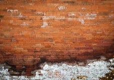 vägg för tegelstengrungetextur Royaltyfri Bild