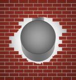 vägg för tegelstenhammarestål Royaltyfri Bild