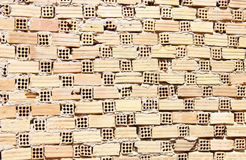 vägg för tegelstenmodelltextur Arkivfoto