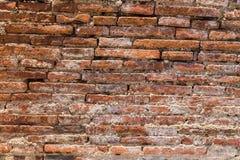 vägg för textur för bakgrundstegelsten riden ut gammal Arkivfoton