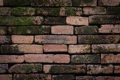 vägg för textur för bakgrundstegelsten gammal Arkivbild