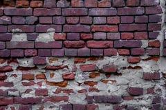 vägg för textur för detalj för arkitekturbakgrundstegelsten gammal röd Royaltyfri Fotografi