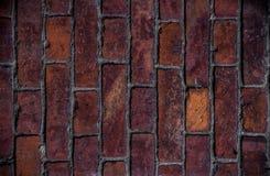vägg för textur för detalj för arkitekturbakgrundstegelsten gammal röd Arkivbild