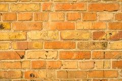 vägg för textur för detalj för arkitekturbakgrundstegelsten gammal röd Arkivfoton