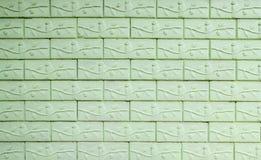 vägg för textur för filialtegelstengreen Royaltyfri Bild