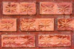 vägg för textur för upplösning för hög gammal kvalitet för foto för bakgrundstegelsten röd royaltyfria foton