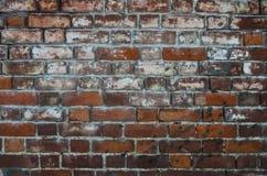 vägg för textur för upplösning för hög gammal kvalitet för foto för bakgrundstegelsten röd arkivfoto