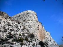 vägg för torn för chevaliersdes-krak Arkivfoton