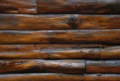 Vägg för trä för landsstil Arkivbild