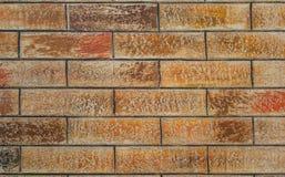 Vägg från tegelstenar Royaltyfri Fotografi