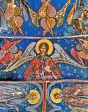 Vägg- freskomålning på Humor kloster Arkivfoto