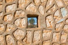 Vägg i Sidi Ifni, Marocko Royaltyfri Bild