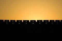 Vägg i solnedgång Royaltyfri Fotografi