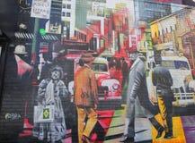 Vägg- konst av den brasilianska vägg- konstnären Eduardo Kobra i den Chelsea grannskapen i Manhattan Royaltyfri Fotografi