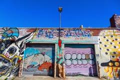 Vägg- konst i Bushwick, Brooklyn, NYC Royaltyfri Foto