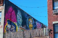 Vägg- konst i Bushwick, Brooklyn, NYC Royaltyfria Bilder