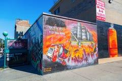 Vägg- konst i Bushwick, Brooklyn, NYC Fotografering för Bildbyråer