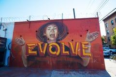 Vägg- konst i Bushwick, Brooklyn, NYC Arkivfoton