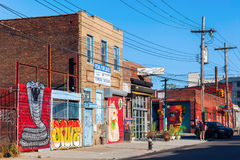 Vägg- konst i Bushwick, Brooklyn, NYC Arkivbilder
