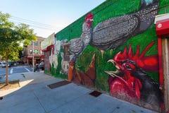 Vägg- konst i Bushwick, Brooklyn, NYC Royaltyfri Fotografi
