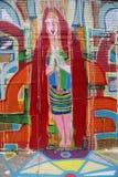Vägg- konst i det Astoria avsnittet i Queens Arkivbild