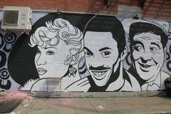 Vägg- konst på östliga Williamsburg i Brooklyn Fotografering för Bildbyråer
