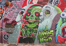 Vägg- konst på östliga Williamsburg i Brooklyn Royaltyfria Bilder