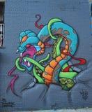 Vägg- konst på östliga Williamsburg i Brooklyn Royaltyfri Foto