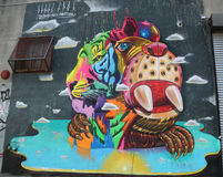 Vägg- konst på östliga Williamsburg i Brooklyn Royaltyfria Foton