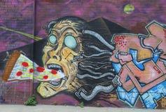 Vägg- konst på östliga Williamsburg i Brooklyn Arkivbilder