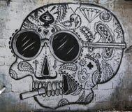 Vägg- konst på den Florentin grannskapen i den sydliga delen av Tel Aviv Arkivbilder