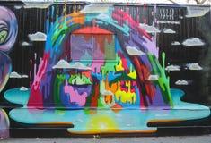 Vägg- konst på Houston Avenue i Soho Arkivfoto
