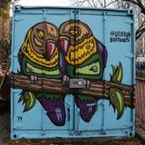 Vägg- konst på Houston Avenue i Soho Royaltyfri Foto