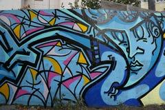 Vägg- konst på Houston Avenue i Soho Royaltyfri Bild