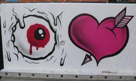Vägg- konst på Houston Avenue i Soho Fotografering för Bildbyråer