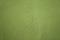 Vägg målad grön målarfärg Royaltyfria Bilder
