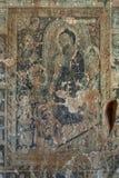 Vägg- målning av Buddha in i Phaya-Thone-Zu Stupa Royaltyfri Foto