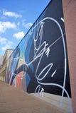 Vägg- målning av en okänd konstnär, St Louis, Missouri arkivbild