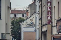 Vägg- målning för komisk remsa i Bryssel, Belgien Royaltyfria Bilder